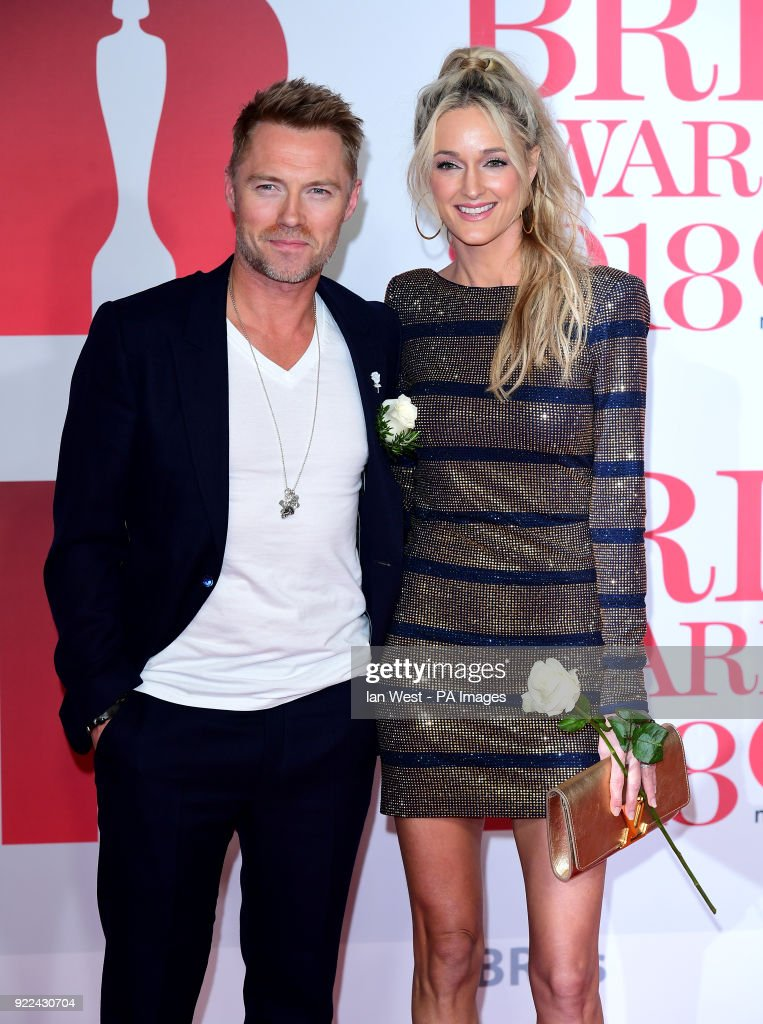 Ronan Keating and Storm Keating attending the Brit Awards at the O2 Arena, London