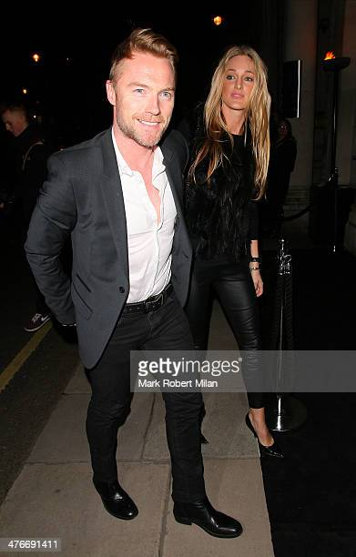Ronan Keating and Storm Keating attending the George Michael album release party on March 4 2014 in London England