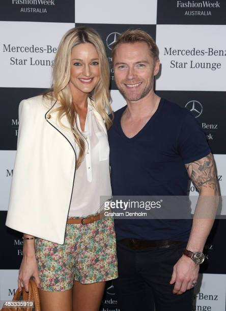 Ronan Keating and Storm Keating pose at the MercedesBenz Star Lounge at MercedesBenz Fashion Week Australia 2014 at Carriageworks on April 8 2014 in...