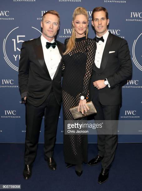 Ronan Keating and Storm Keating with IWC Schaffhausen CEO Christoph Grainger Herr attending the IWC Schaffhausen Gala celebrating the Maison's 150th...
