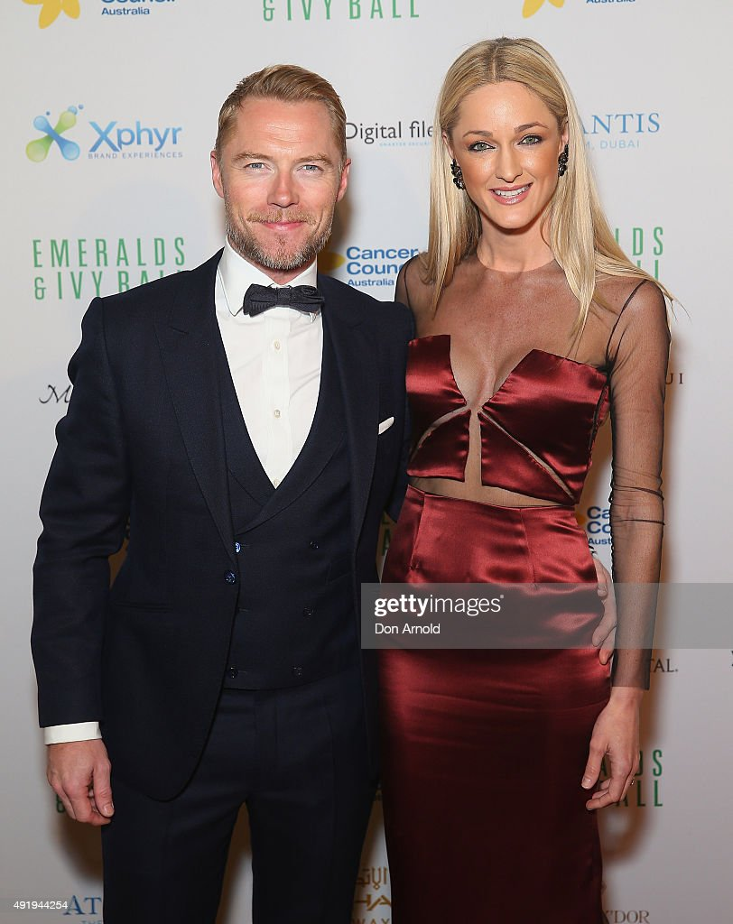 Ronan Keating and Storm Uechritz arrive ahead of Cancer Council Australia's Emeralds & Ivy Gala Ball at Sydney Town Hall on October 9, 2015 in Sydney, Australia.