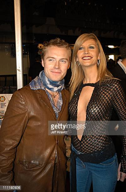 Ronan Keating and wife during MTV European Music Awards 2002 at Palau Sant Jordi in Barcelona Spain