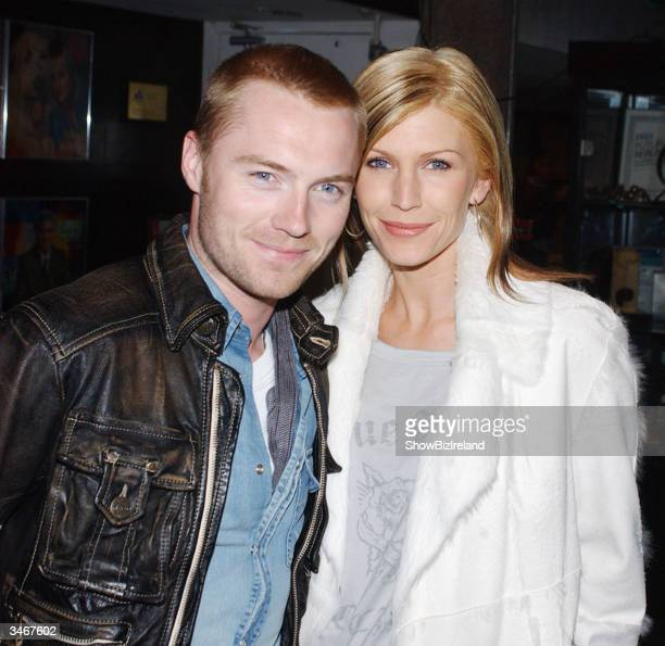 Ronan Keating and wife Yvonne appear on The Late Late Show at RTE Studios, April 23, 2004 in Dublin, Ireland.