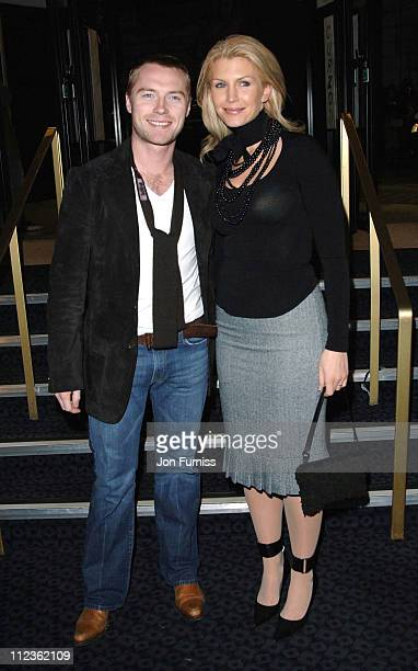 Ronan Keating and wife Yvonne during George Michael's 'A Different Story' Gala London Screening Inside at Curzon Mayfair in London Great Britain