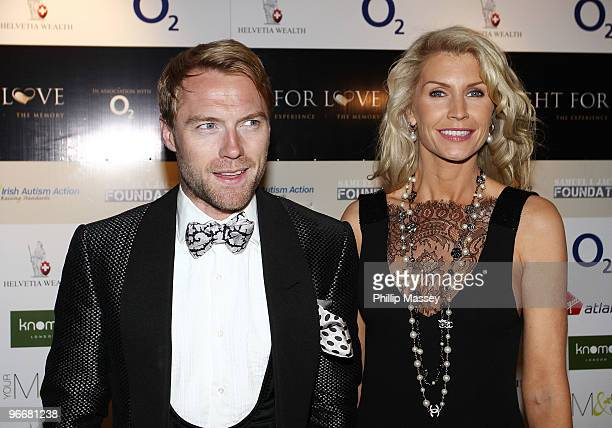 Ronan Keating and Yvonne Keating attend the Night For Love Charity Ball in aid of The Samuel L Jackson Foundation and Irish Autism Action on February...