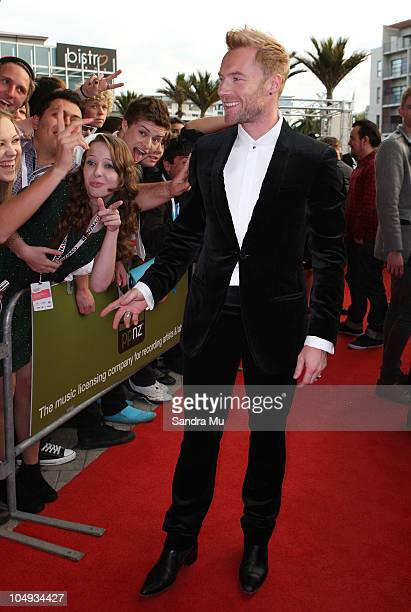 Ronan Keating arrives for the 2010 Vodafone Music Awards at Vector Arena on October 7 2010 in Auckland New Zealand