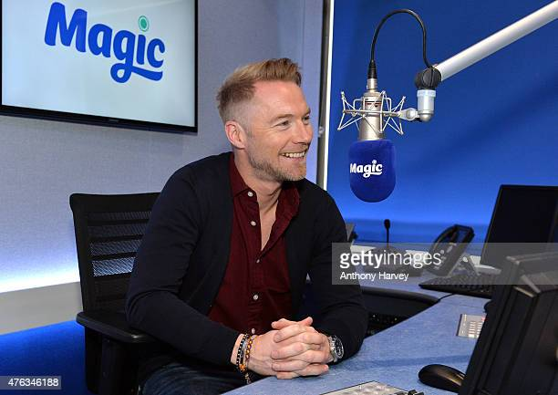 Ronan Keating at Kiss FM Studio's on June 8 2015 in London England Ronan joins Magic Radio to present their 'Magic in the Morning Breakfast Show'...