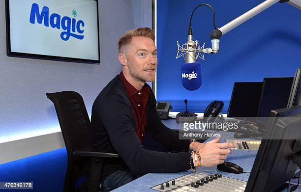 Ronan Keating at Magic Radio Studio's on June 8 2015 in London England Ronan joins Magic Radio to present their 'Magic in the Morning Breakfast Show'...