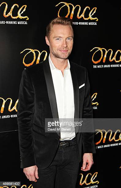 Ronan Keating attends an after party following the press night performance of 'Once' as Ronan Keating joins the cast at Century on November 25 2014...