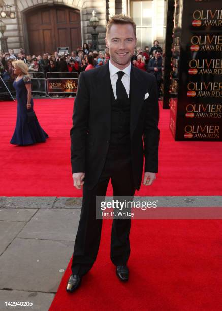 Ronan Keating attends the 2012 Olivier Awards at The Royal Opera House on April 15 2012 in London England