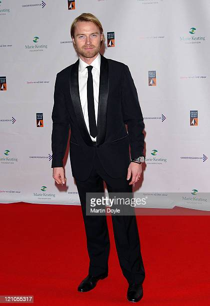 Ronan Keating attends The Emeralds Ivy Ball hosted by Ronan Keating for Cancer Research UK sponsored by Anglo Irish Bank at The Old Billingsgate Fish...