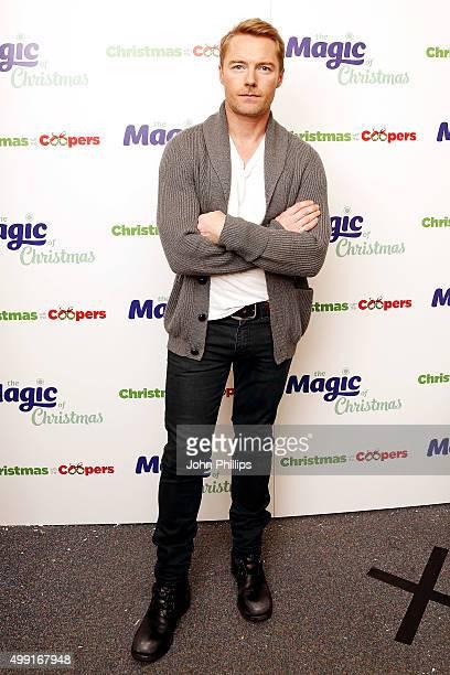 Ronan Keating backstage at Magic Radios festive concert The Magic of Christmas at London Palladium on November 29 2015 in London England