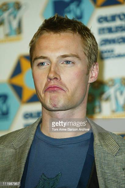 Ronan Keating during 2002 MTV European Music Awards Press Room at Palau Sant Jordi in Barcelona Spain