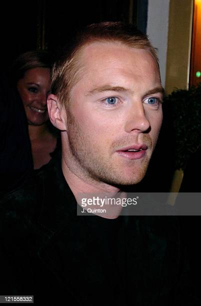 Ronan Keating during Ronan Keating CD Launch Party for '10 Years of Hits' at Cafe De Paris in London Great Britain