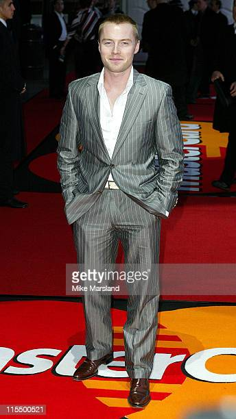 Ronan Keating during The 2004 Brit Awards Arrivals at Earls Court in London Great Britain