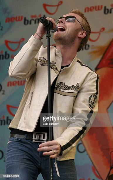 Ronan Keating during The New 964 BRMB's 'Party in the Park' 2004 Sponsored by O2 Music at Cannon Hill Park in Birmingham Great Britain