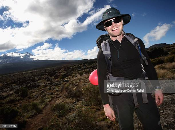 Ronan Keating is seen on his birthday on the second day of The BT Red Nose Climb of Kilimanjaro on March 3 2009 in Arusha Tanzania Celebrities Ronan...