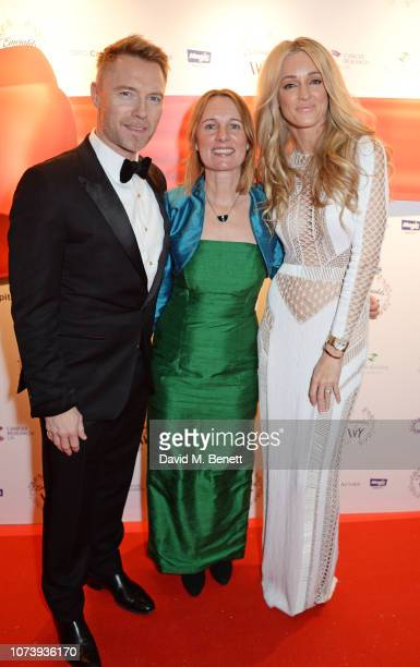 Ronan Keating Michelle Mitchell and Storm Keating attend the 12th annual Emeralds Ivy Ball in aid of Cancer Research UK and The Marie Keating...