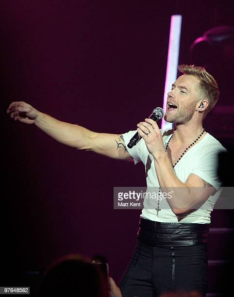 Ronan Keating of Boyzone performs at the Royal Albert Hall on March 11 2010 in London England