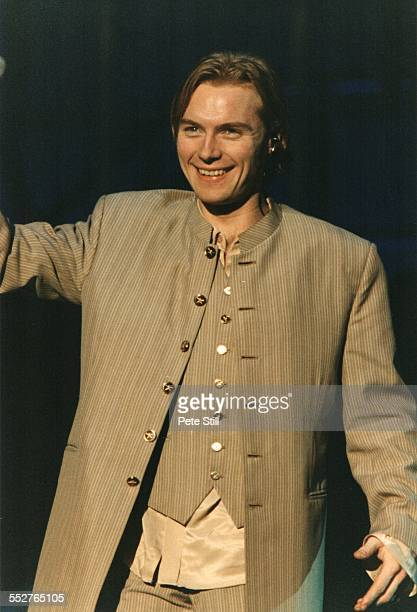 Ronan Keating of Boyzone performs on stage at Battersea Power Station on December 13th 1997 in London England