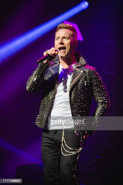 Ronan Keating of Boyzone performs on stage at the London Palladium during their The Last Five tour on October 21 2019 in London England