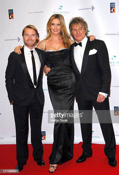 Ronan Keating Penny Lancaster and Rod Stewart attend The Emeralds Ivy Ball hosted by Ronan Keating for Cancer Research UK sponsored by Anglo Irish...