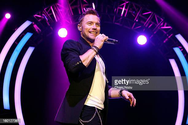 Ronan Keating performs at 02 Arena on January 26 2013 in London England