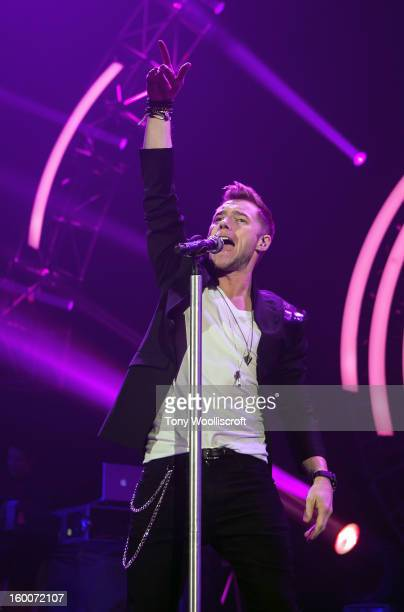 Ronan Keating performs at LG Arena on January 25 2013 in Birmingham England