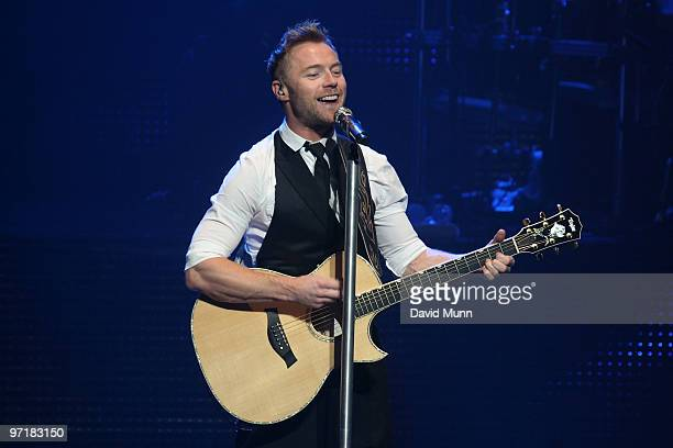 Ronan Keating performs at The Liverpool Empire on February 28 2010 in Liverpool England