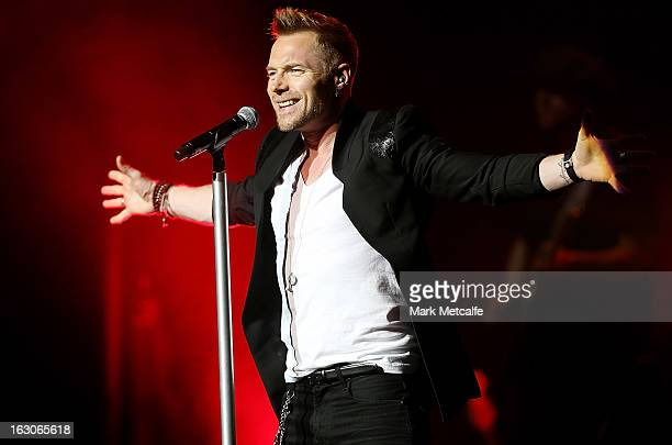 Ronan Keating performs live on stage at State Theatre on March 4 2013 in Sydney Australia