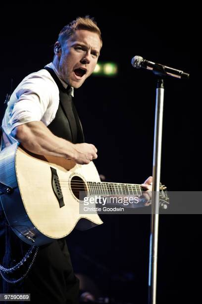 Ronan Keating performs on stage at Royal Albert Hall on March 9 2010 in London England