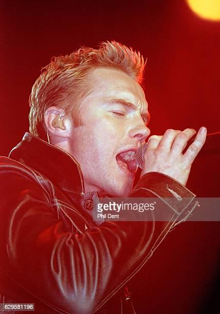 Ronan Keating performs on stage circa 2000
