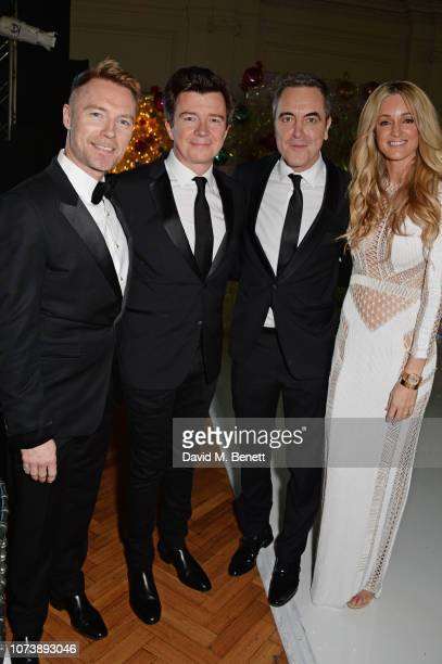 Ronan Keating Rick Astley James Nesbitt and Storm Keating attend the 12th annual Emeralds Ivy Ball in aid of Cancer Research UK and The Marie Keating...