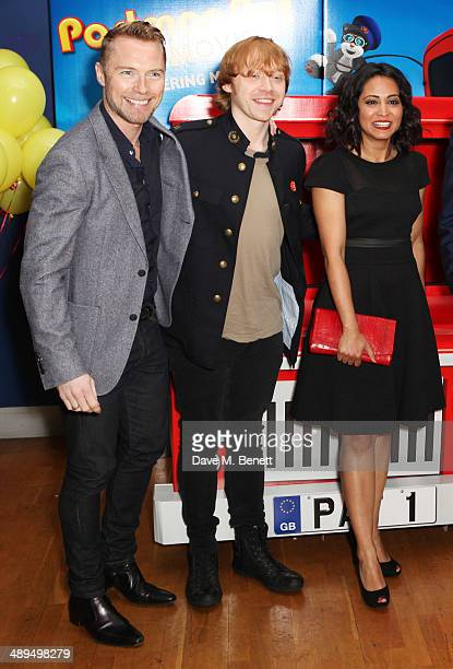 Ronan Keating Rupert Grint and Parminder Nagra attend the World Premiere of 'Postman Pat' at Odeon West End on May 11 2014 in London England