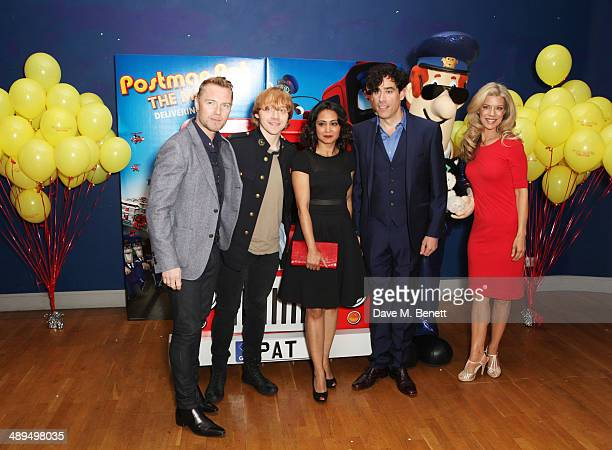Ronan Keating Rupert Grint Parminder Nagra Stephen Mangan and Susan Duerden attend the World Premiere of 'Postman Pat' at Odeon West End on May 11...