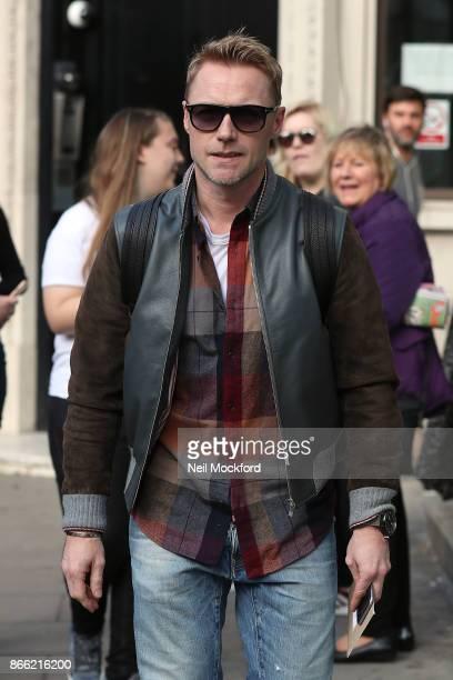 Ronan Keating seen at Bauer Media Radio on October 25 2017 in London England
