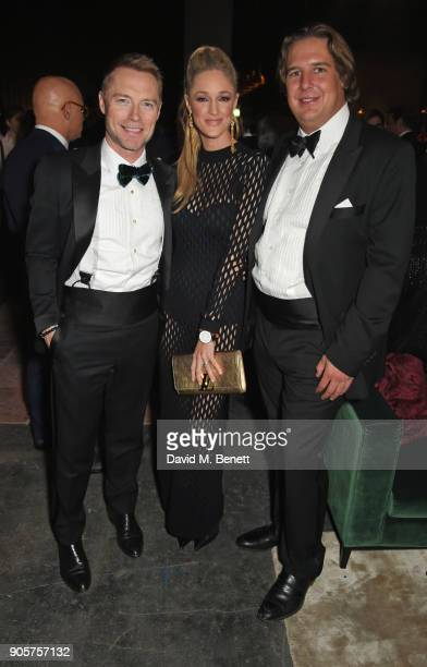 Ronan Keating, Storm Keating and Anton Rupert Jr attends the IWC Schaffhausen Gala celebrating the Maison's 150th anniversary and the launch of its...