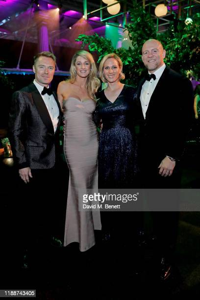 Ronan Keating, Storm Keating, Zara Tindall and Mike Tindall attend the 13th annual Emeralds & Ivy Ball in partnership with Cancer Research UK and The...