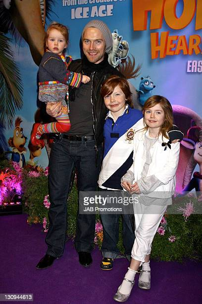 """Ronan Keating with children Ali Keating, Jack Keating and Missy Keating attend the """"Horton Hears a Who!"""" VIP Screening at the Vue West End on March..."""