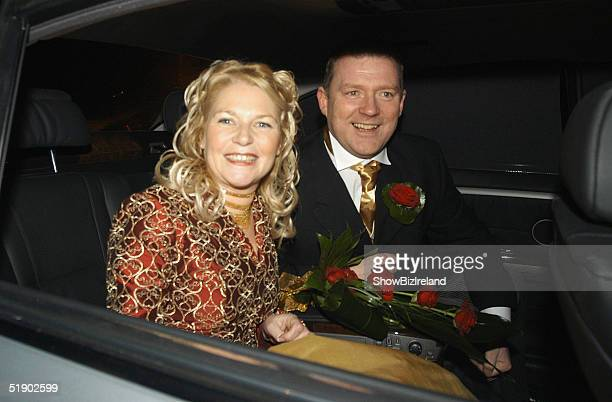 Ronan Keating's sister Linda marries Garda Michael Higgins in The Church of Ireland Chapel in Straffan Village on December 28 2004 in Co Kildare...