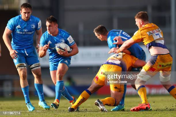 Ronan Kelleher of Leinster during the Heineken Champions Cup Quarter Final match between Exeter Chiefs and Leinster at Sandy Park on April 10, 2021...