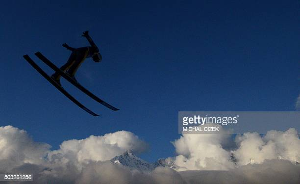 TOPSHOT Ronan Lamy Chappuis of France competes during the Four Hills competition of the FIS Ski Jumping World Cup in Innsbruck on January 3 2016...