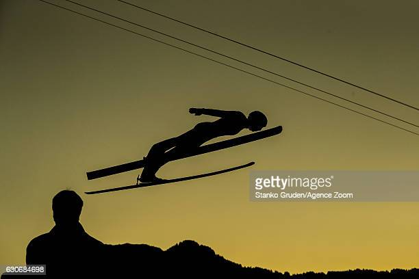 Ronan Lamy Chappuis of France in action during the FIS Nordic World Cup Four Hills Tournament on December 30 2016 in Oberstdorf Germany