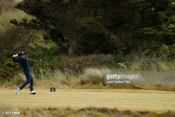 Ronan Mullarney of Ireland in action during day four of the RA Amateur Championship at Portmarnock Golf Club on June 20 2019 in Portmarnock Ireland