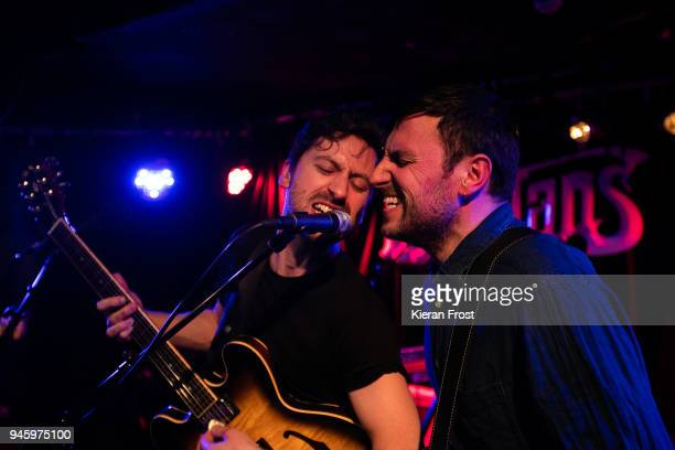 Ronan Yourell and Kieran McGuinness of Delorentos performs at Whelan's on April 13 2018 in Dublin Ireland