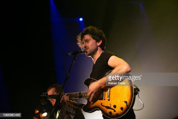 Ronan Yourell of Delorentos performs at the Olympia Theatre on November 10, 2018 in Dublin, .