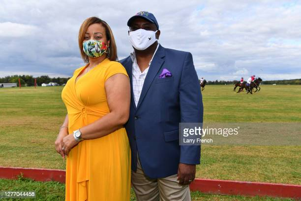 Ronda Bell and Marshall Bell are seen at Grandiosity Events 4th annual Polo & Jazz celebrity charity benefit hosted by Real Housewives of Potomac's...