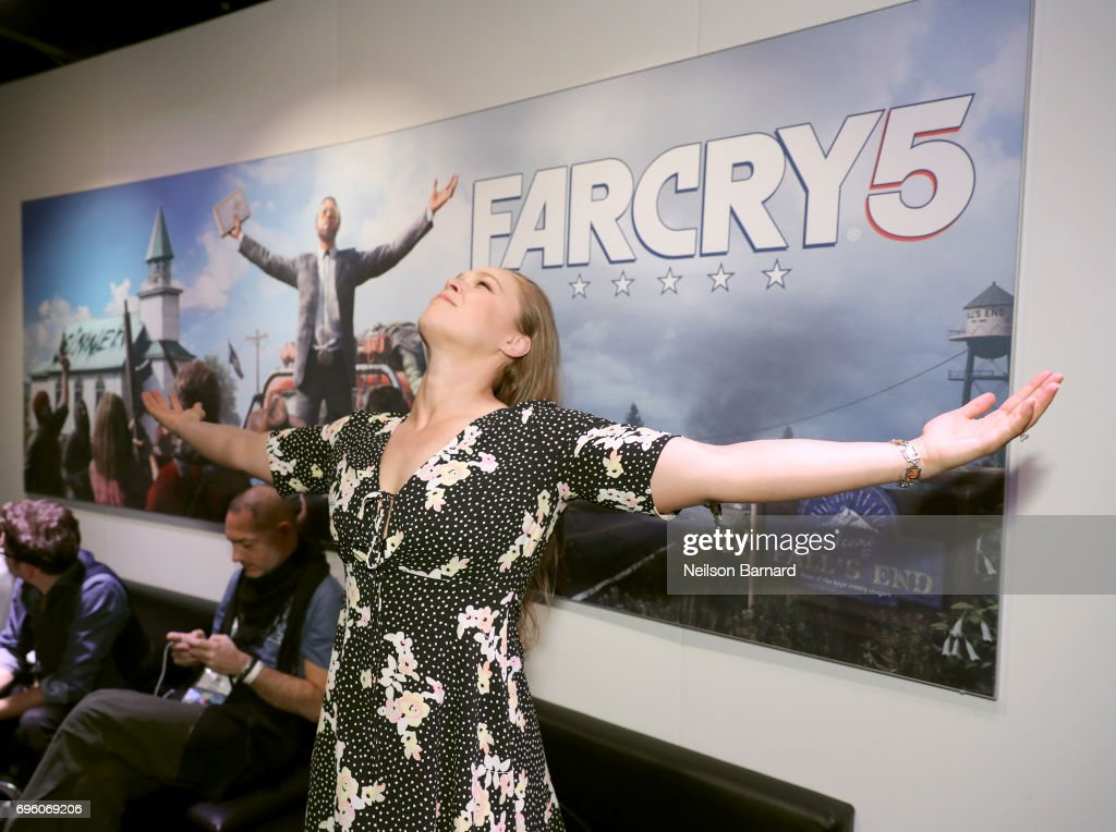 Ronda Rousey attends E3 2017 at Los Angeles Convention Center on June 14, 2017 in Los Angeles, California.