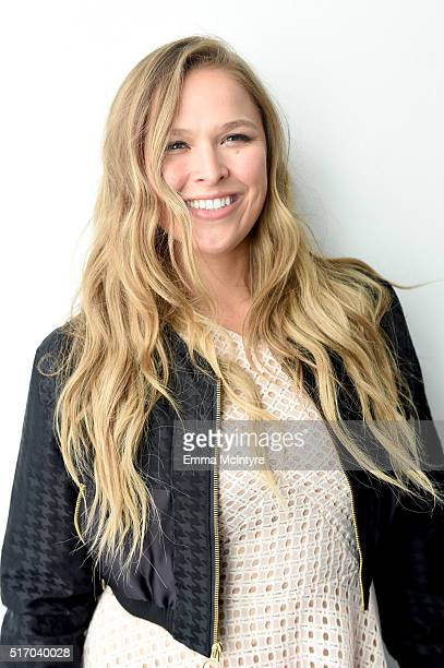 Ronda Rousey attends Reebok Women's Luncheon hosted by Ronda Rousey on March 22 2016 in Los Angeles California