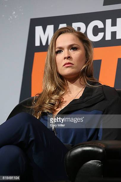 Ronda Rousey attends SXSports at the SXSW Film-Interactive-Music festival at Austin Convention Center on March 13, 2016 in Austin, Texas.